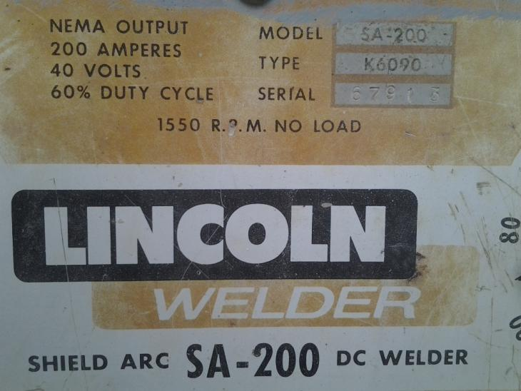 SA-200 Lincoln needs a 'lil help - Miller Welding Discussion