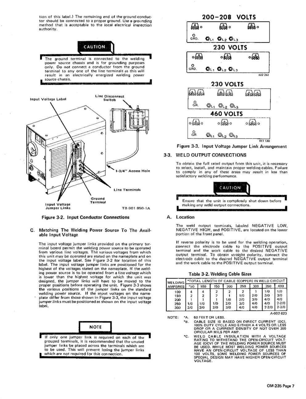 Miller CP-200 230v wireing