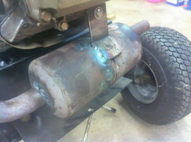 Muffler Repair for Lawn Tractor - Miller Welding Discussion