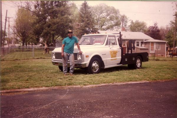The first Truck I build in 1990. It was a 69 chevy I paid $250 for it, did all body work, Maaco painted the cab I built the bed.