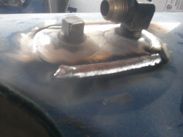 some of my aluminum welding on a diesel fuel tank. with my 211.